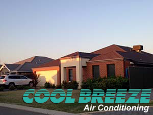A home fitted with a Coolbreeze evaporative air conditioning system